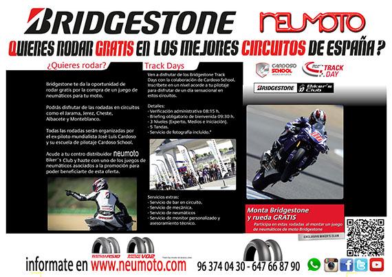 Rueda gratis con Bridgestone y Neumoto